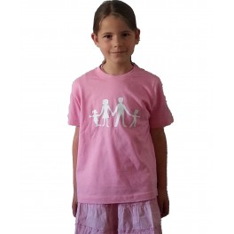 Pink T-shirt with white logo