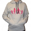 Grey Sweat with  pink  logo