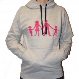 Grey Sweat with  pink  logo