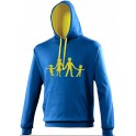 Sweat bleu navy logo jaune