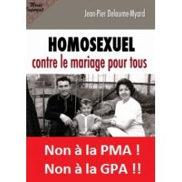 """Book """"Homosexuel contre le mariage pour tous"""""""