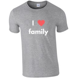 T-shirt gris I Love Family
