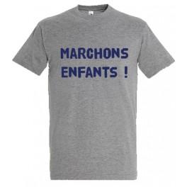 """T-shirt gris """"Marchons Enfants"""""""
