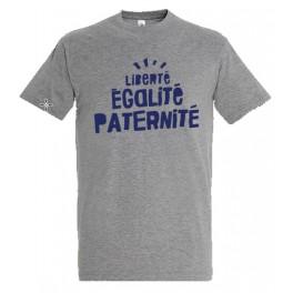 """T-shirt gris """"Liberté Egalité Paternité"""""""